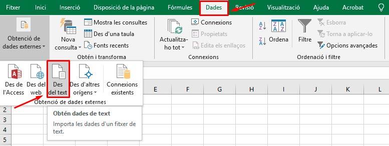 Editar CSV amb Excel