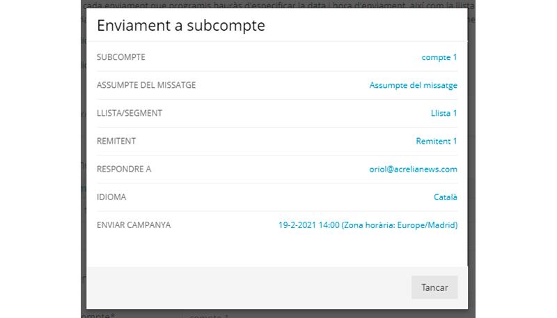Resum enviament a subcomptes