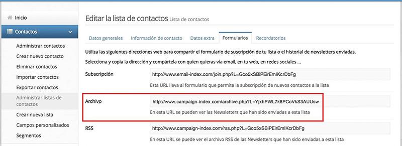 compartir newsletters