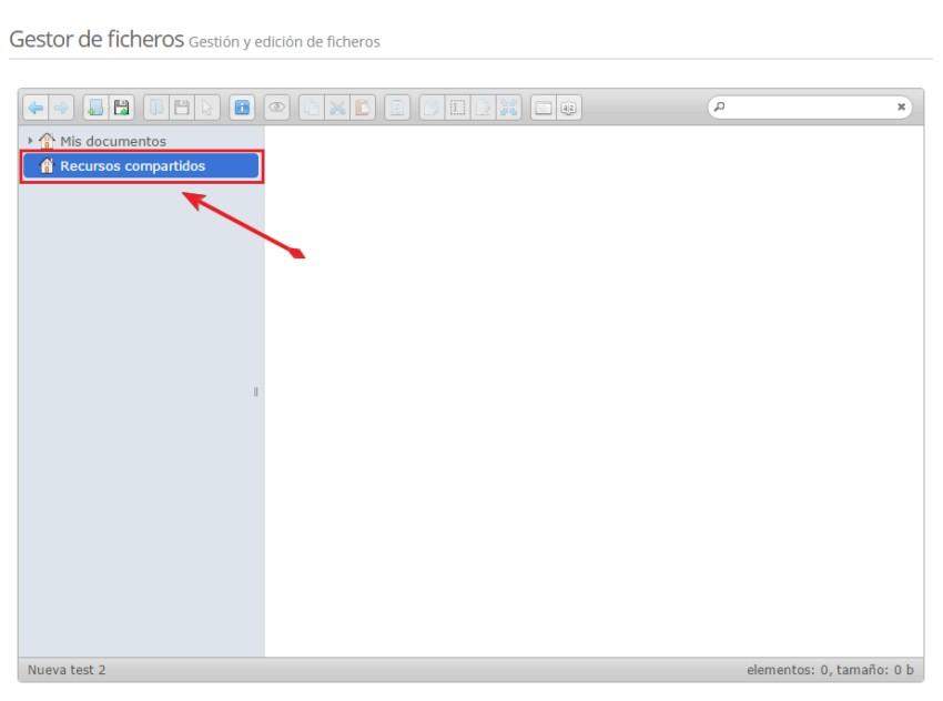 Gestor de ficheros - Recursos compartidos