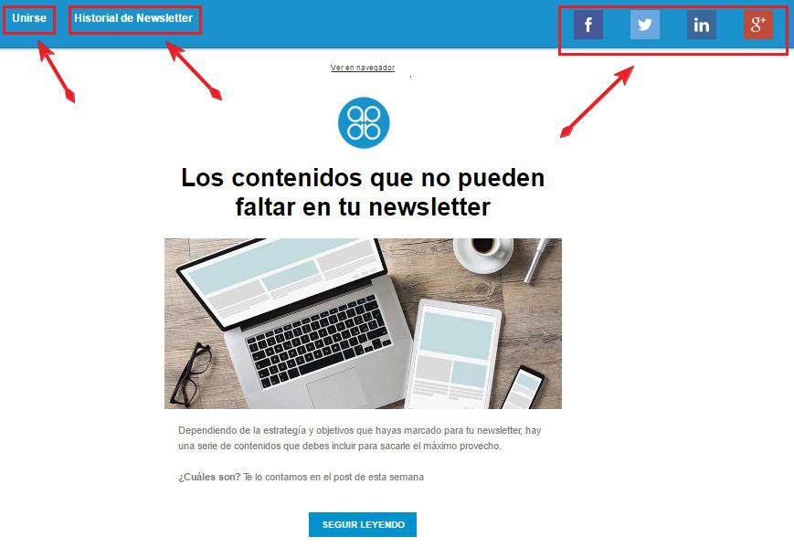 Personalizar versión web de la newsletter