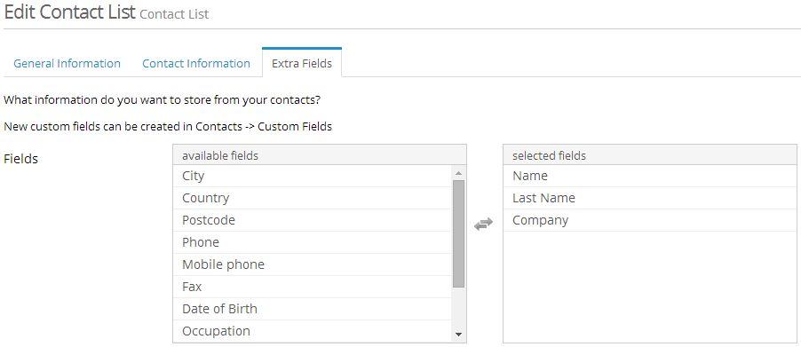 custom fields in lists