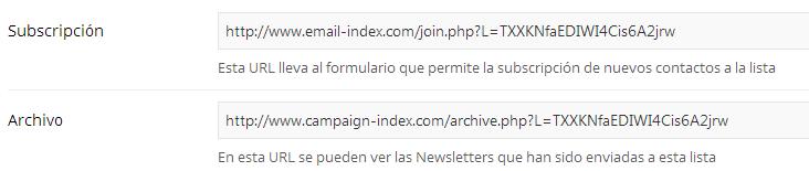 Compartir el Formulario de Suscripción y el Archivo de Newsletters