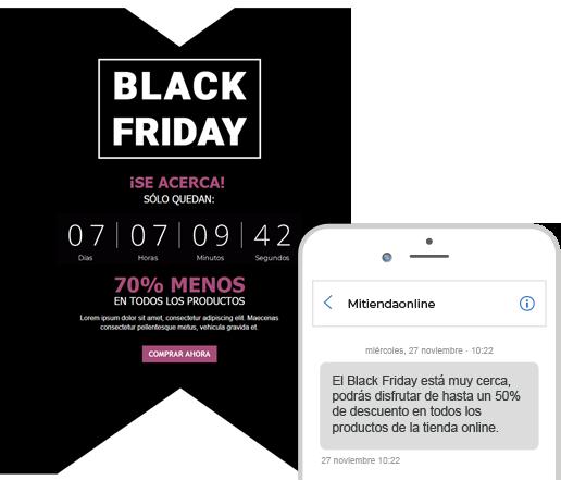 Black Friday - Campañas de email y SMS para vender más - Contenido de la guía