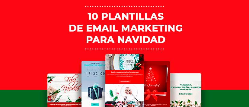 10 plantillas de email marketing para Navidad