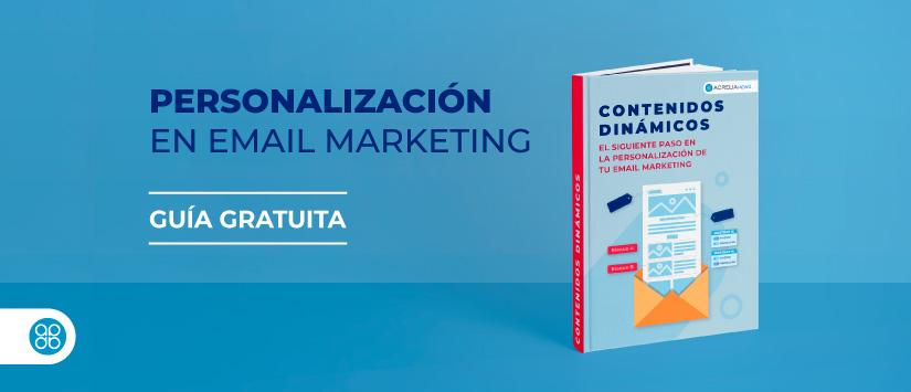 Imagen Guía en pdf: Personalización en email marke