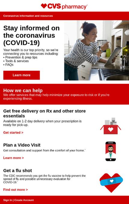 Imagen Newsletter covid CVS phar