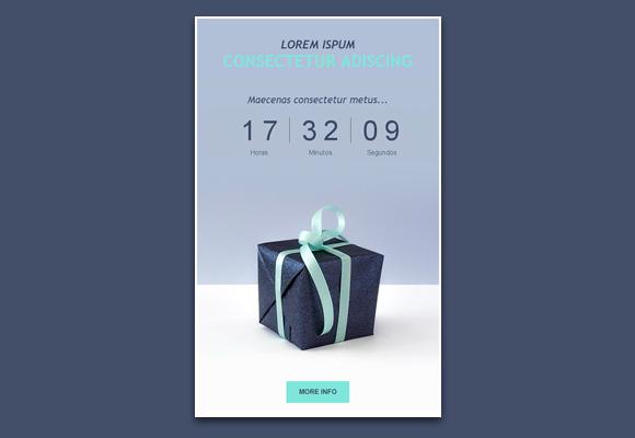 Plantilla de newsletter con un regalo a los suscriptores