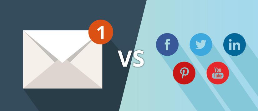 Comparativa entre e-mail màrqueting i xarxes socials