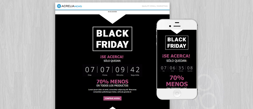 Plantilla Black Friday Countdown