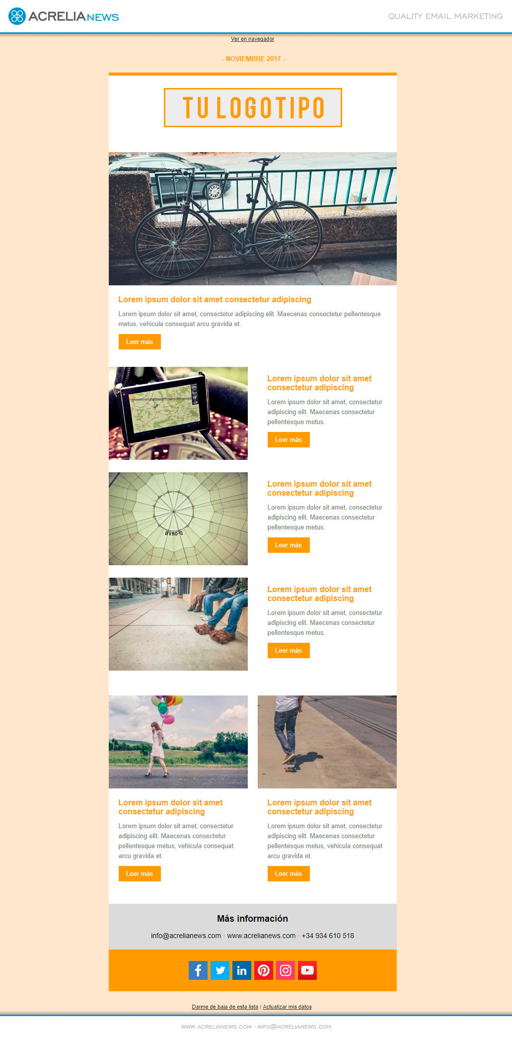 Plantilla: Boletín de Noticias | Blog Acrelia News